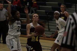 Hawkettes rout Roosevelt for their 10th win of the season