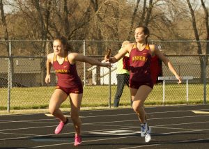 Ankeny's Daugherty, Trimble sisters combine for winning relay at Marshalltown