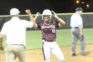 Hawkettes regain sole possession of first place on Daugherty's walk-off single