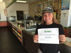 Blimpie Sub of the Week: Chloe Peck, Ankeny Centennial softball