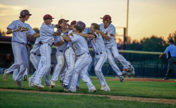 Seth Harpenau's walk-off hit allows Hawks to survive and advance