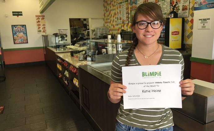 Blimpie Sub of the Week: Kate Heine, Ankeny softball