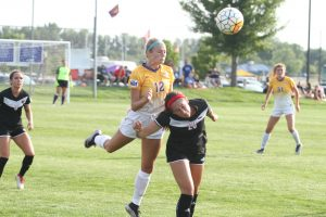 UNI's Netten, Yarrow feel 'right at home' during exhibition victory at Prairie Ridge