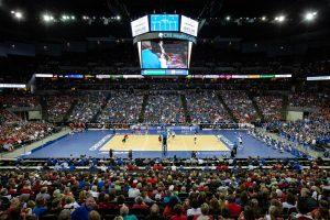 Record crowd watches Creighton volleyball team fall to Nebraska