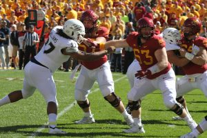 Ex-Jaguar Olson makes first career start for Cyclones