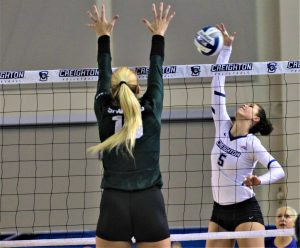 Winters becomes Creighton's all-time kills leader