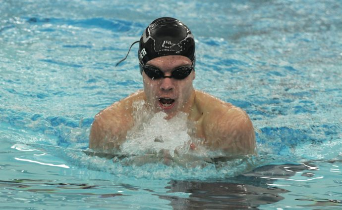 Hawk swimmers start busy week with rout over Indianola