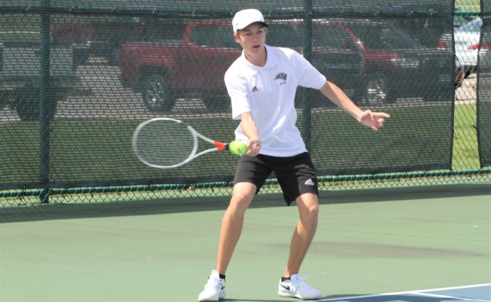 Blevins wins four-hour match to reach semifinals of Class 2A singles tourney