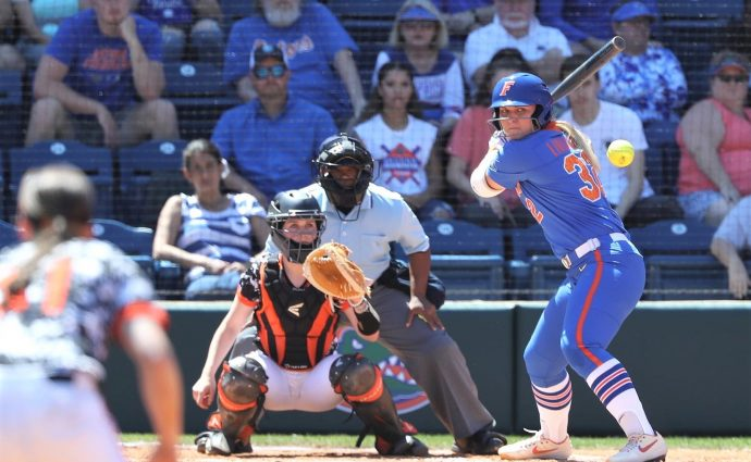Lindaman, Gators move closer to Women's College World Series berth