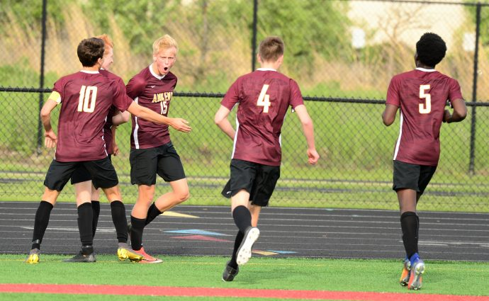 Albertson returns to lineup, gets hat trick in Hawks' win over Dowling