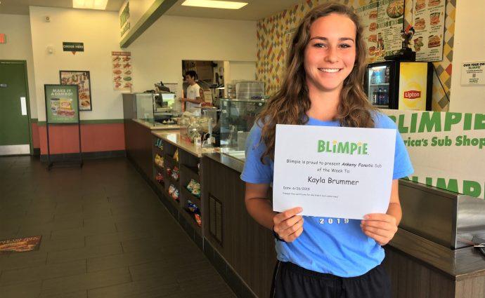 Blimpie Sub of the Week: Kayla Brummer, Ankeny softball