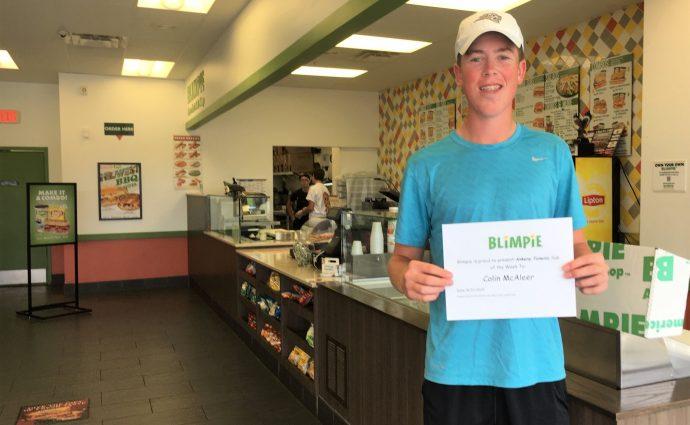 Blimpie Sub of the Week: Colin McAleer, Centennial boys' golf