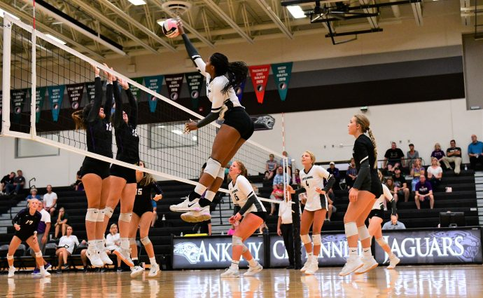 Robinson returns to lineup, leads Jaguars to five-set win over Johnston