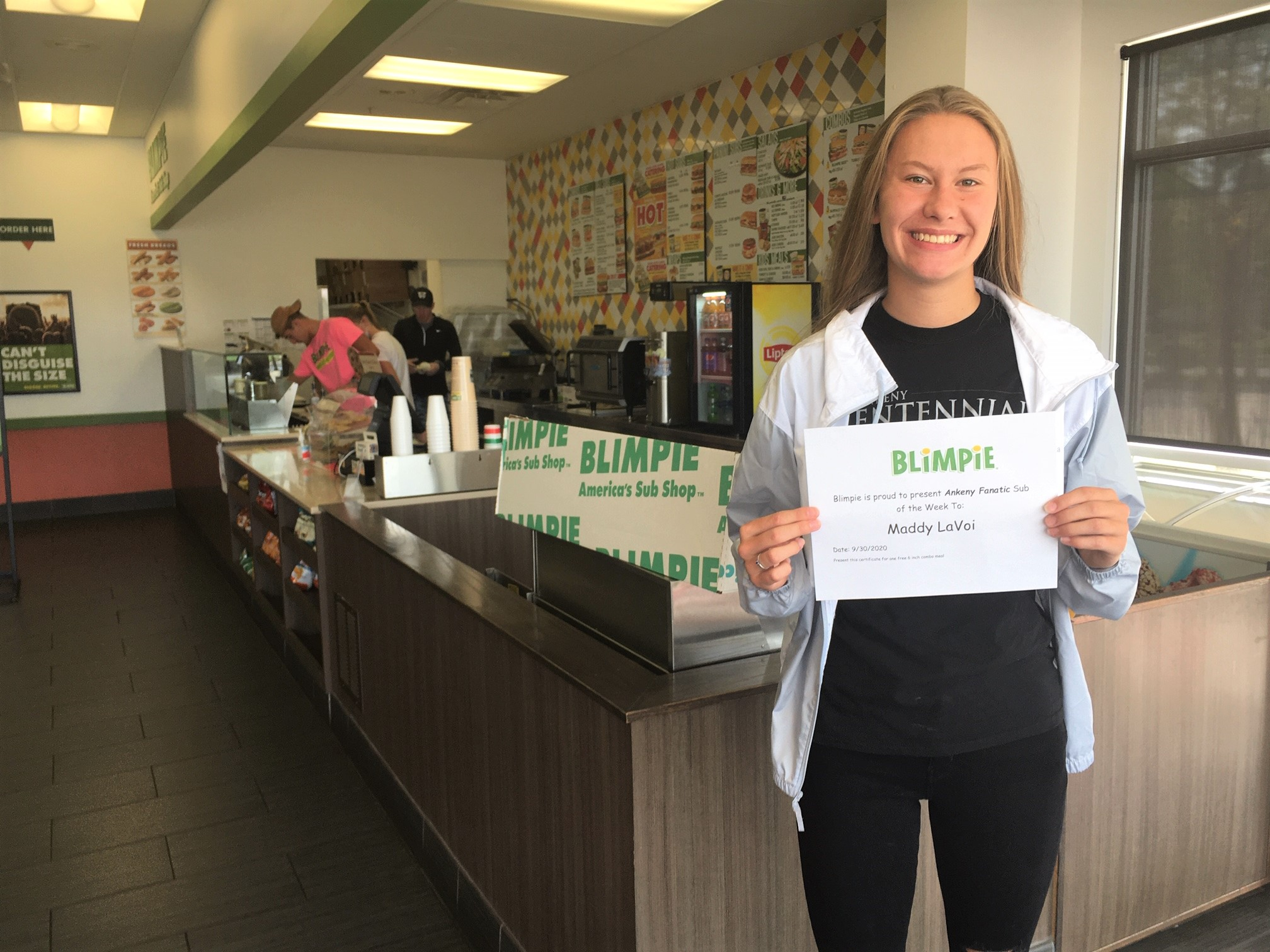 Blimpie Sub of the Week: Maddy LaVoi, Ankeny Centennial girls' cross country