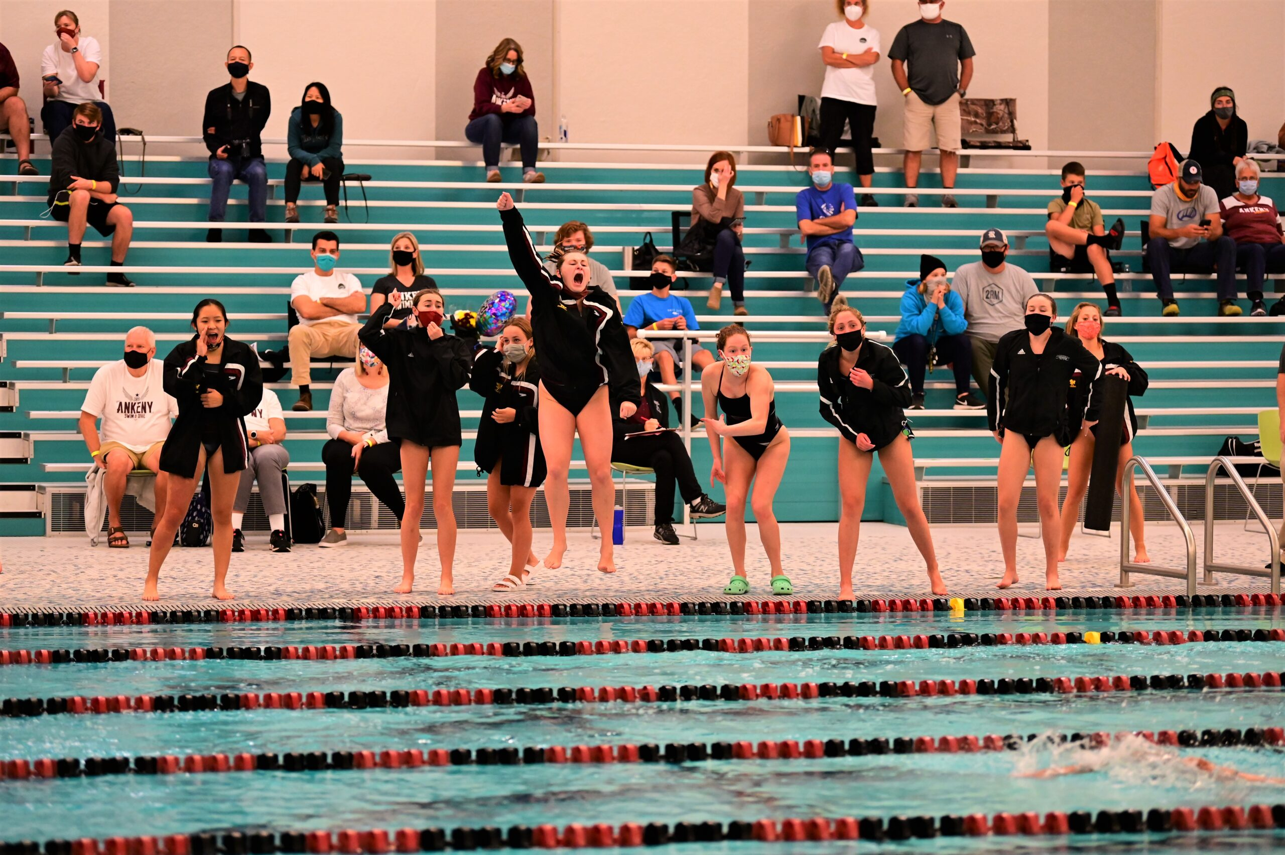 With their top swimmers sitting out, Hawkettes finish 3rd at conference meet