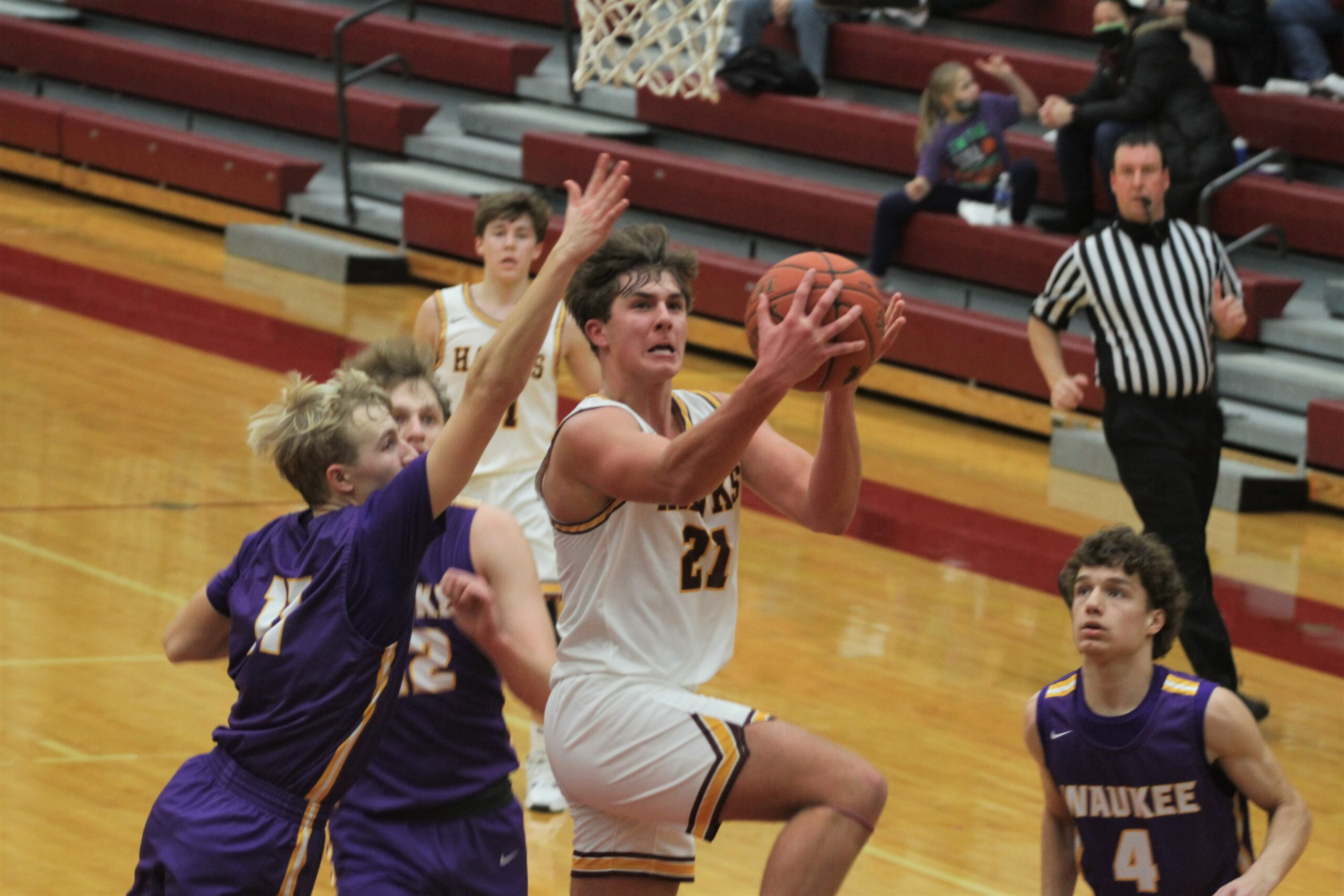 Hawks keep it close for awhile before No. 2 Waukee pulls away in 2nd half